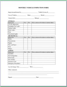 Free Pool Inspection Report Template Word Sample