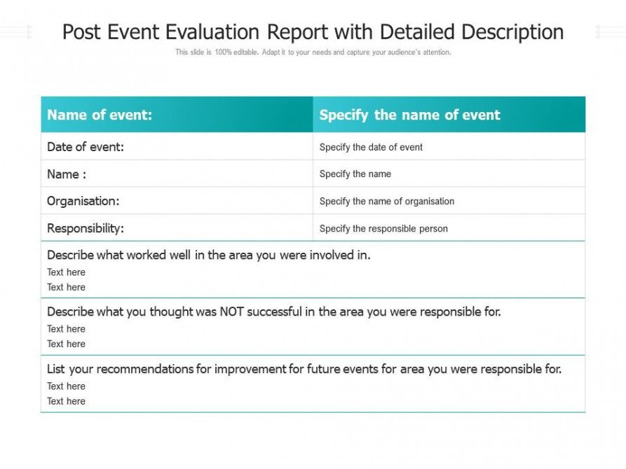 Free Post Event Report Template Word Sample