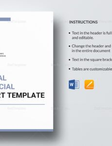 Printable Annual Financial Report Template Pdf Sample