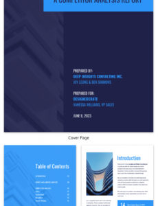 Printable Business Consultant Report Template Pdf