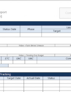Printable It Project Status Report Template