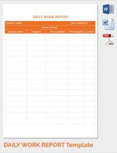 Printable Recruitment Status Report Template  Example