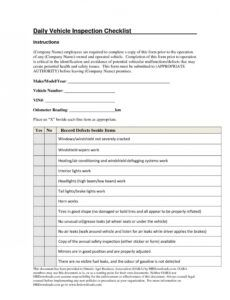 Professional Daily Inspection Report Template Doc Example