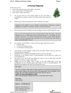 Professional Formal Business Report Template Doc Example