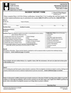 Professional Information Security Incident Report Template Excel Sample