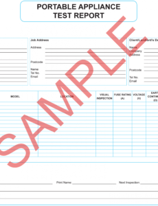 Professional Pressure Vessel Inspection Report Template Excel Sample
