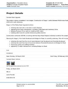Professional Project Inspection Report Template Word Example