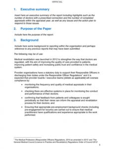 Costum Ceo Annual Report Template Doc Sample