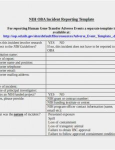 Printable End Of Shift Report Template Word