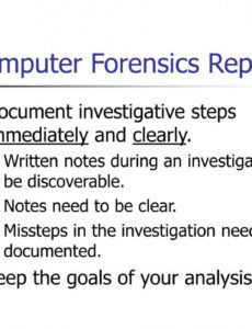 Professional Computer Forensics Report Template Word