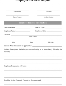 Situational Report Template Word