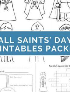 Costum Catholic Saint Report Template Doc Example