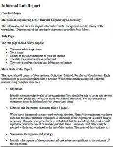 Costum Scientific Method Lab Report Template  Sample