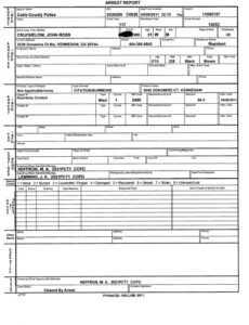 Printable Empty Police Report Template Excel Sample