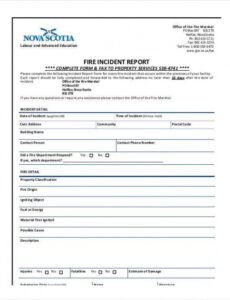 Printable Empty Police Report Template Word