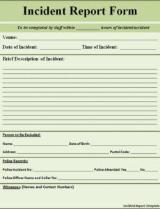 Professional Police Arrest Report Template Doc Example