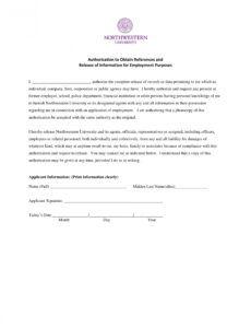 Best Employment Verification Release Form Template Excel Sample