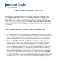 Best Severance And Release Agreement Template Doc Example
