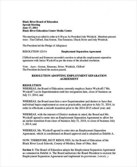 Best Severance And Release Agreement Template Doc Sample