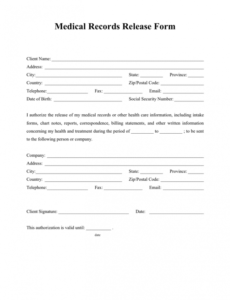 Church Photo Release Form Template Word Sample
