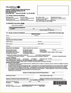 Costum Emergency Room Release Form Template Pdf Example