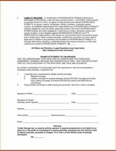 Costum Hunting Release Of Liability Form Template Pdf Sample