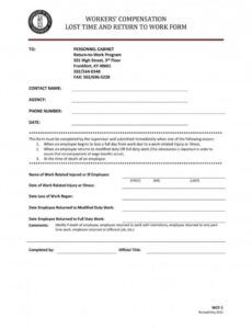 Costum Medical Release Form To Return To Work Template Word Example