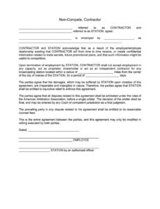 Costum Non Compete Release Letter Template Excel