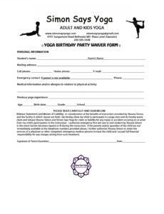 Costum Sports Release Of Liability Form Template Doc Example