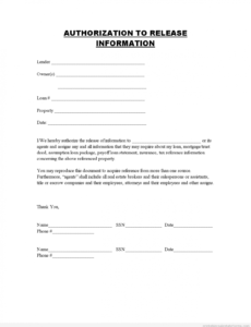 Editable Employee Photo Release Form Template Excel
