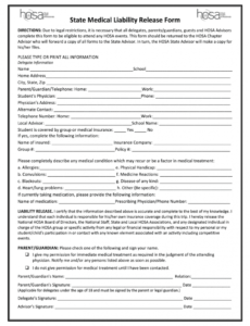 Editable Legal Release Form Template Excel Sample