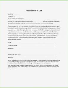 Free Final Release Of Lien Template Pdf Sample