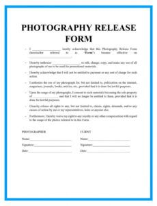 Free Video Release Forms Template Doc Example