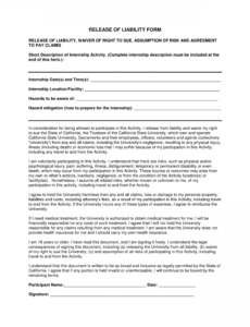 Insurance Release Form Template Doc