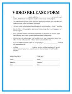 Photo Permission Release Form Template Pdf