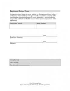 Printable Church Photo Release Form Template Doc