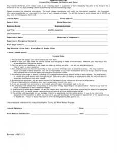 Printable Employment Verification Release Form Template Excel Example