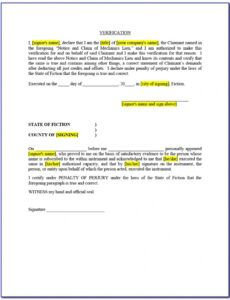 Printable Final Release Of Lien Template Doc Sample