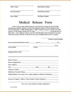 Printable Generic Photo Release Form Template Word