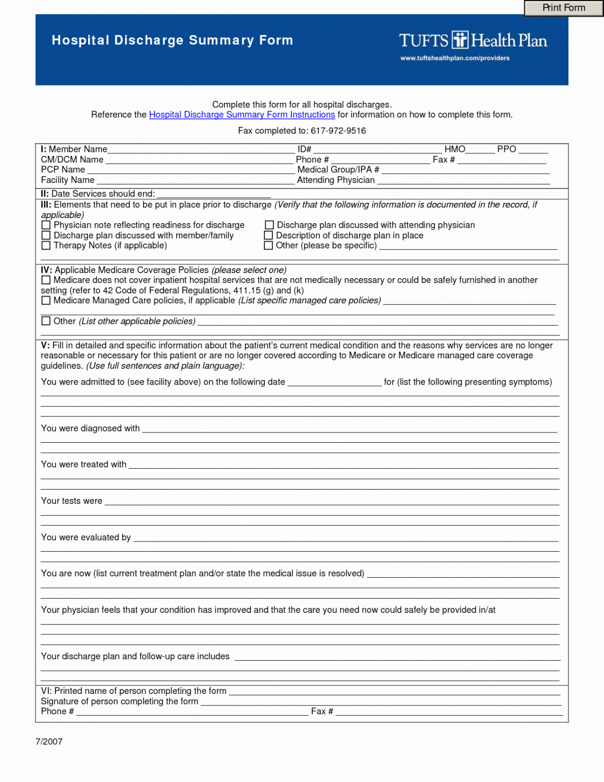 Professional Hospital Release Forms Template Word Example