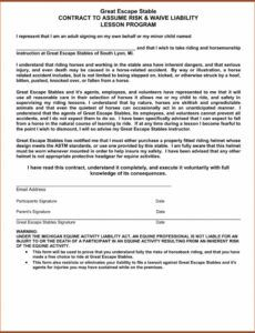 Professional Hunting Release Of Liability Form Template Doc Sample
