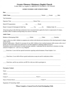 Professional Parental Release Form Template Word Sample