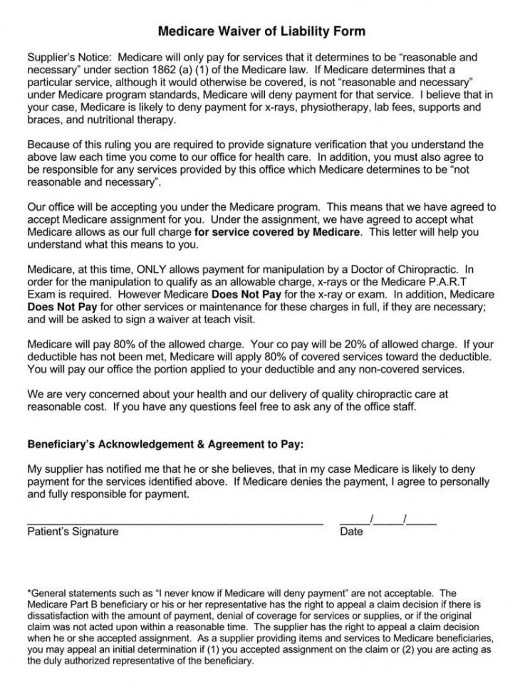 Professional Personal Liability Release Form Template Pdf Example