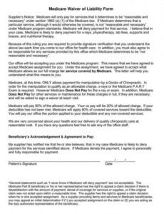 Professional Property Liability Release Form Template Word