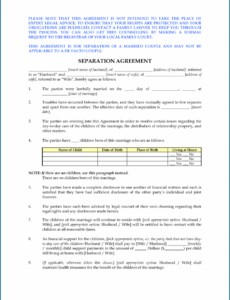 Professional Separation And Release Agreement Template Pdf Sample