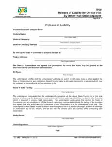 Property Liability Release Form Template Doc Example